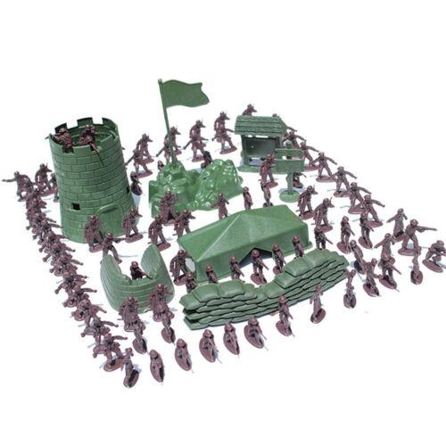 4 cm Soldat Stadt Tor Turm Sandsack Militär Modell für Jungen Geschenke
