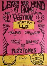 LEAVE YOUR MIND - 1988 - Konzertplakat - Fuzztones - Hard-Ons - Miracle Workers