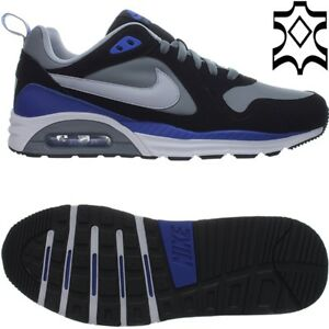 Details about Nike Air Max Trax Leather Grey Black Mens Lifestyle Sneaker Shoes NEW OVP show original title