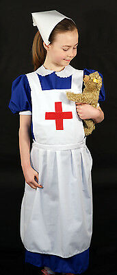 MILITARY NURSES APRON with RED CROSS Wartime-WW2-1940/'s Fancy Dress Accessory