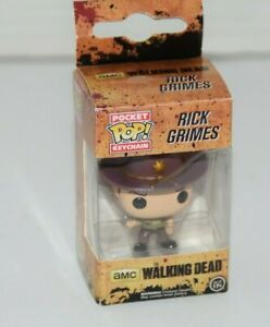 Rick Grimes Funko Pocket POP Keychain The Walking Dead NEW!