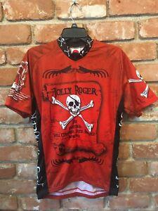 World Jerseys Jolly Roger Pirate Mens Cycling Jersey bike bicycle