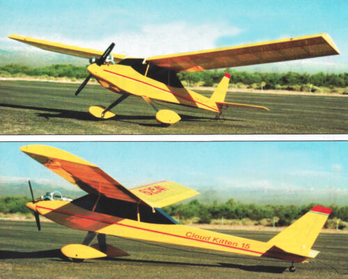 Cloud Kitten Sport Plane Plans,Templates and Instructions 48ws