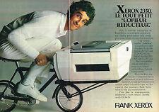 PUBLICITE ADVERTISING 114  1982  RANK XEROX   copieur réducteur ( 2p)