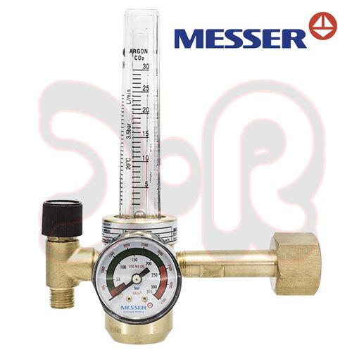 MESSER Druckminderer Argon Co2 Schutzgas mit Flowmeter Druckregler MAG WIG