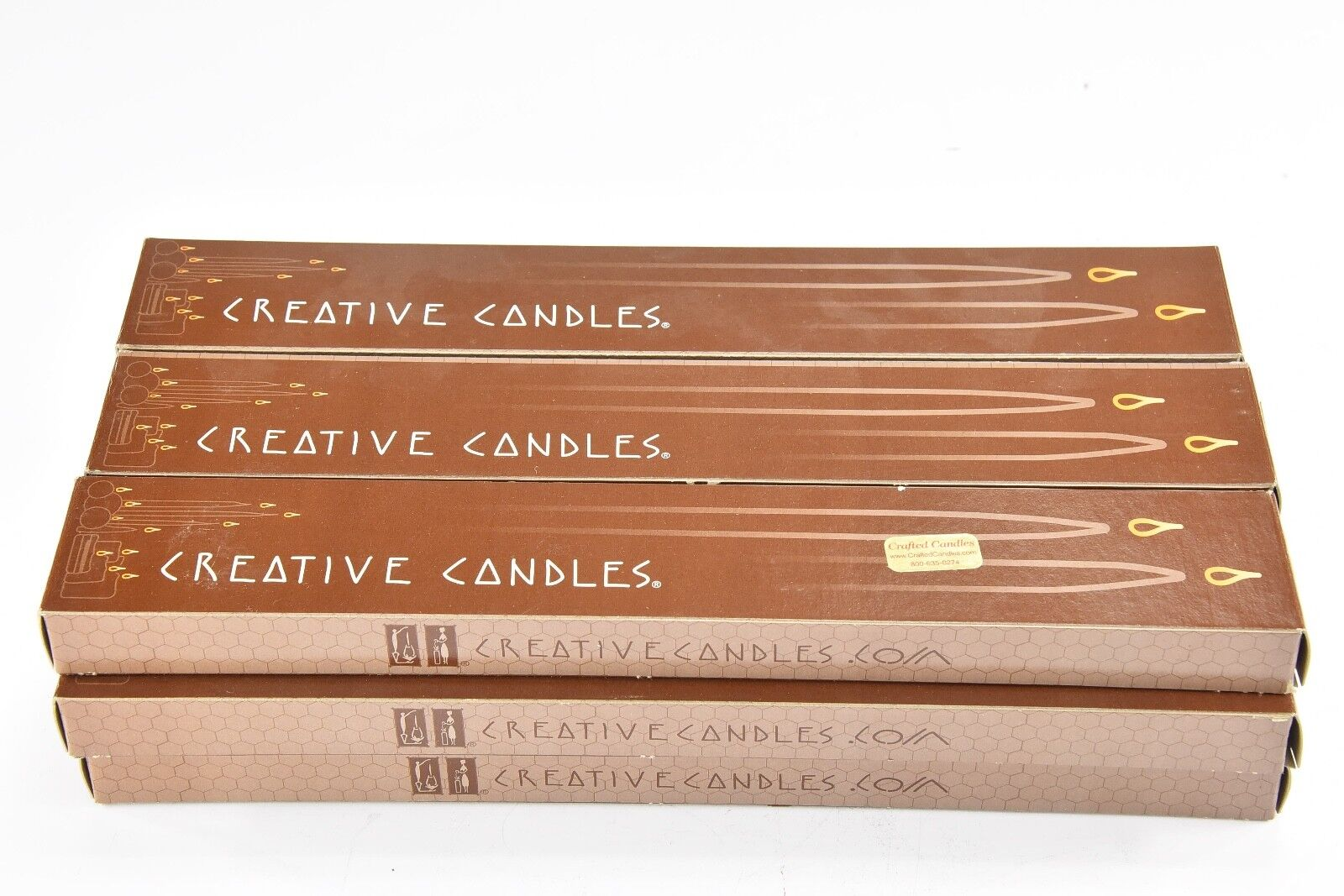 Lot of 9 Boxes of 2 - Total 18 CREATIVE CANDLES 12  7 8  Taper TERRA COTA - A235