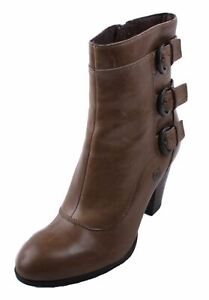 Born-Vivi-Women-039-s-Taupe-Phard-Distressed-Leather-Heel-Booties