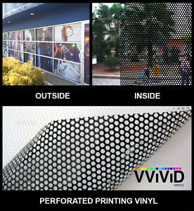 Perforated Mesh Adhesive Printing Vinyl 50ft X 54 Quot Vvivid