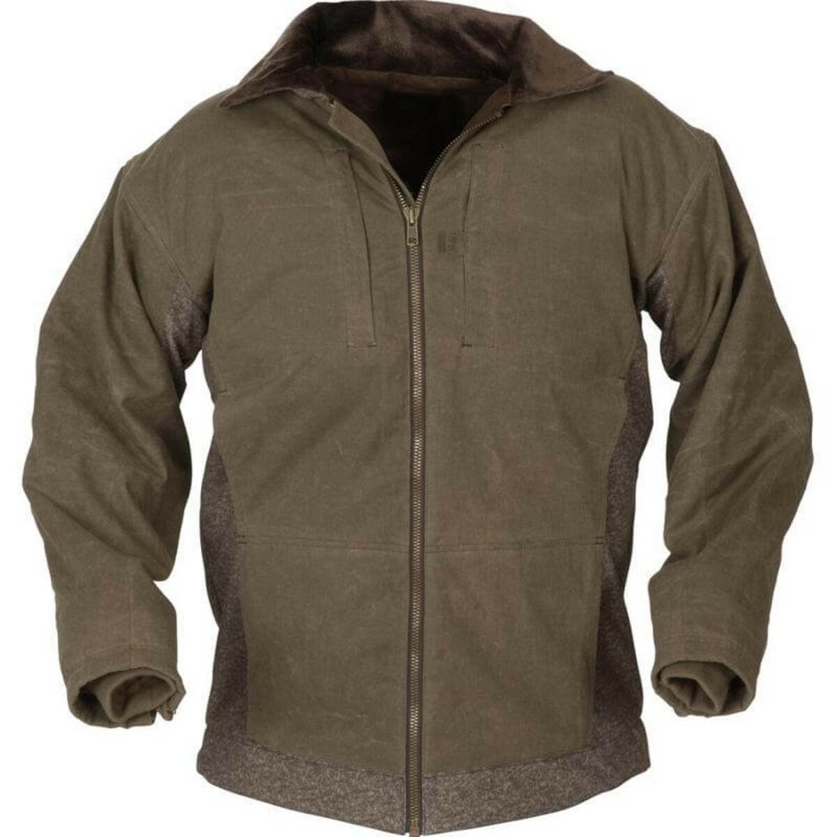 AVERY AVERY A1010003-MB-M AVERY HERITAGE FULL ZIP WATERFOWL SWEATER MEDIUM