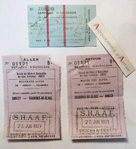 Lot-2-tickets-1931-Chamonix-Mont-Blanc-gt-Annecy-Route-des-Alpes-SHAAF-bus