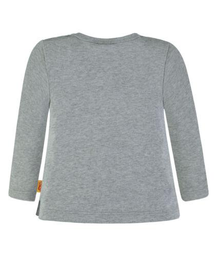 Steiff ® ragazzo manica lunga shirt /'Sports Club/' GRIGIO 80-116 F//S 2018 NUOVO!