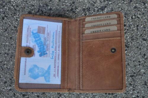 Herren Geldbörse Portemonnaie Leder Portmonee 100 /% Kalbsleder 101
