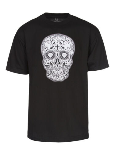 Mens Black//White Sugar Skull Short-Sleeve T-Shirt