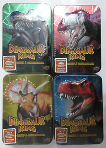 DINOSAUR KING - COLLECTORS TIN (X4) - FRENCH -  OOP!         - FREE UK P&P