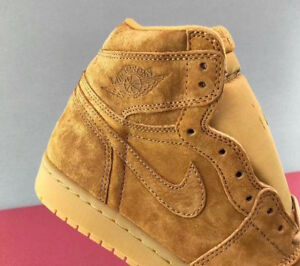 dc0df5bc3bce Nike Air Jordan 1 Retro High WHEAT FLAX BROWN SUEDE 555088-710 12 ...