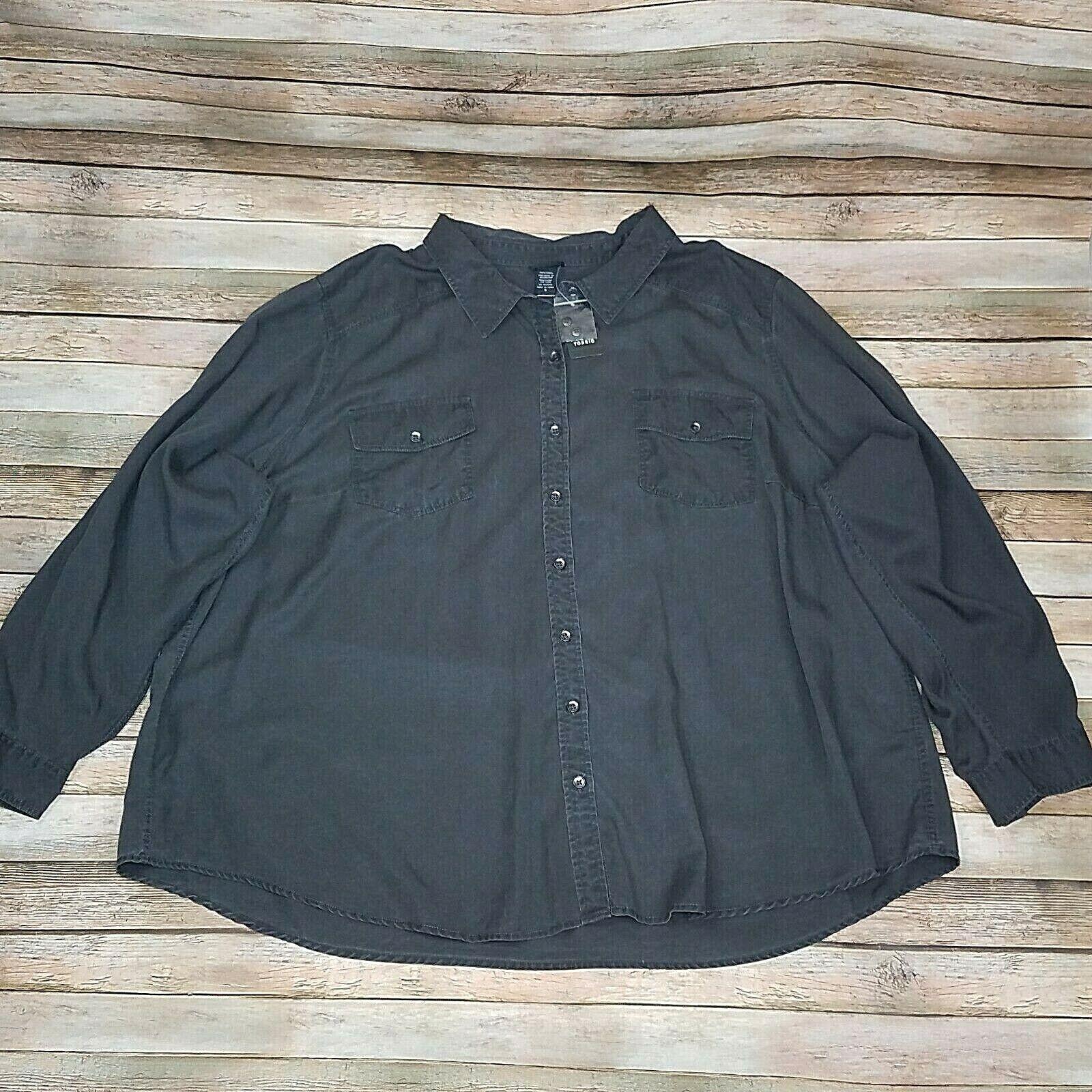 Torrid 100% Tencel Grey Camp Shirt Size 5