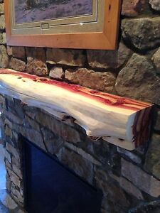 5 red cedar fireplace mantel beam log rustic juniper handpeeled rh ebay com