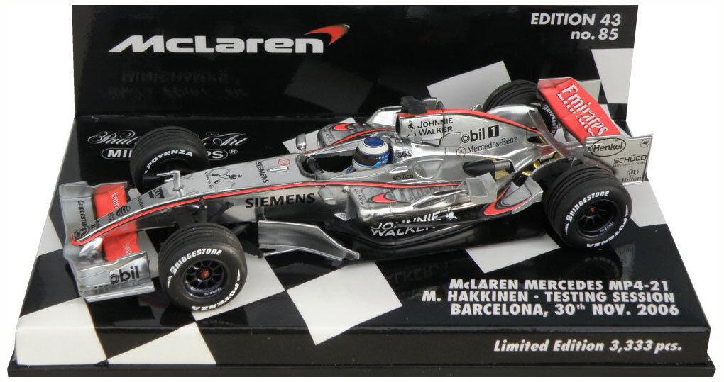 Minichamps McLaren mp4-21 BARCELONA TEST 2006-Mika Hakkinen scala 1/43
