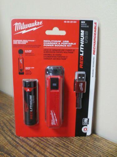 Milwaukee REDLITHIUM USB Chargeur /& Puissance Portable Source Kit 48-59-2013H NOUVEAU