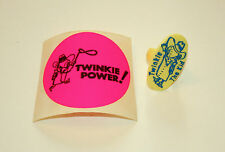 VTG Toy Hostess Twinkies The Twinkie Kid Plastic Ring Yellow + Sticker New 1970s