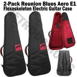 2 reunion blues aero e1 electric guitar case flexoskeleton soft gig bag new 879233006888 ebay. Black Bedroom Furniture Sets. Home Design Ideas