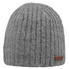 BARTS NEW Men's Beanie Heather Grey Haakon BNWT