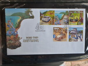 AUSTRALIA-2012-ROAD-TRIP-AUSTRALIA-SET-5-STAMPS-FDC-FIRST-DAY-COVER