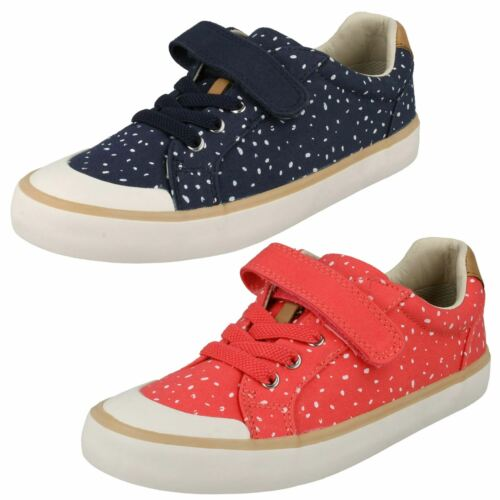 Junior Girls Comic Max Clarks Canvas Shoes