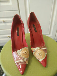 d5e496277f4 Details about Louis Vuitton red heels 36 1/2 perfect condition, vintage