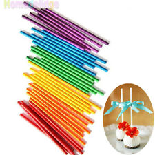 50pcs Colorful Lollipop Sticks Candy Cake Chocholate Sugar Paste Tools