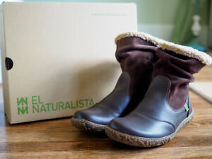 NEW-El-Naturalista-Nido-N758-38-Brown-Leather-Fall-Winter-Ankle-Boots-7-5-180
