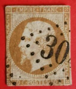 Timbre : EMPIRE NON DENTELE N° 13 - I OBLIT.(TB 735-1) Bistre-orange
