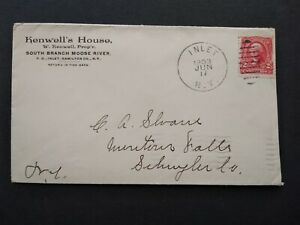 New York: Inlet 1903 Kenwell's House Adirondack Hotel Advertising Cover