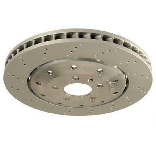 Rear Left or Right Vented Drilled Dimpled Disc Brake Rotor O.E.M for Audi R8