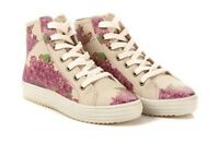 Goby $240 Lace Up Flower Shoes Boots Size 40 Or 9 Brand + Mimco Dust Bag