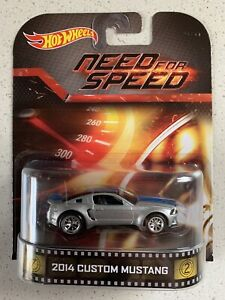 Hot Wheels 2014 Retro Entertainment Need For Speed Custom Mustang Silver Color Ebay