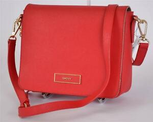 7a8db5e12 La foto se está cargando Nuevo-Dkny-Donna-Karan-Rojo-Saffiano-Solapa-De-