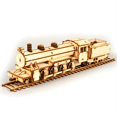 New HO(1/87) NEW Steam Locomotive Assembly Wood Kit