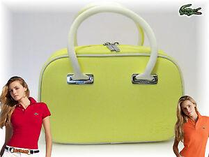 Pastel Mujer Auténtico Amarillo Clásico 2 Mini Bolso Lacoste 17 nvwO7aqH7
