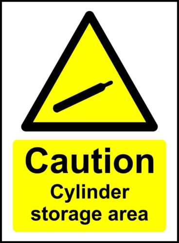 Caution Cylinder Storage Area Safety Sign