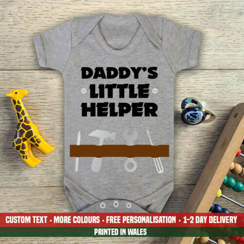 Daddy/'s Little Helper Baby Vest Grow Dad Fathers Day DIY Tools Builder Boys
