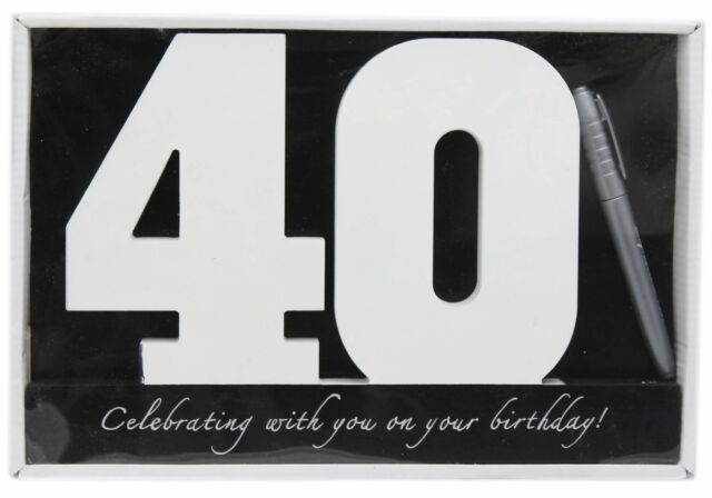 Wooden Birthday Signature Plaque Happy 40Th Gift