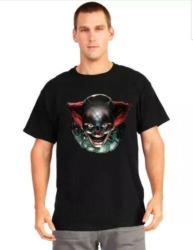 Mens Oryginal Digital Dudz Freaky Clown Eyes Halloween T-Shirt Fancy Costume L
