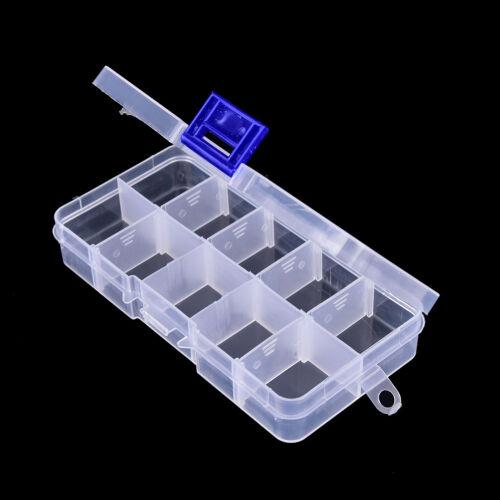 10 fach transparent sichtbare kunststoff fischköder box angelgerät box   ^