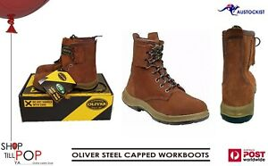 e213a3a5085 Details about OLIVER 33660 SUEDE LEATHER STEEL CAPPED WORK BOOTS RUBBER  SOLE MENS US: 5 UK: 4