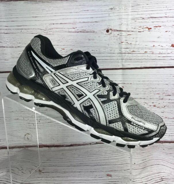 fcbf0b0cc86 Asics Gel Kayano 21 Mens Running Shoes Sneakers Black/White Size 8.5 US  T4H2N
