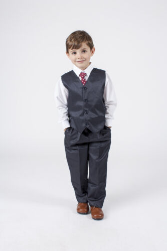Boys Suits 4 Piece Waistcoat Suit Wedding Page Boy Baby Formal Party ...