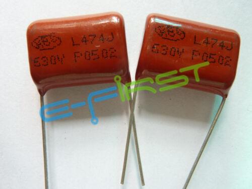 10PCS CBB 474J 630V CBB21 0.47UF 470NF P22 Metallized Film Capacitor