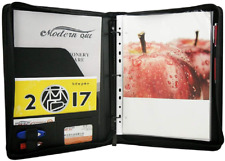 Freeprint Zippered Portfolio Binder 3 Ring With Writing Pad Legal Size Letter