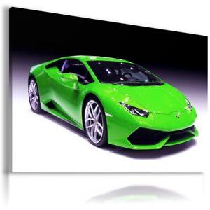 LAMBORGHINI HURACAN GREEN Sports Cars Wall Art Canvas Picture AU842 MATAGA
